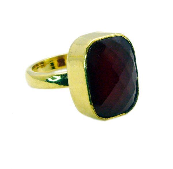Buy Riyo Red Onyx Gold Plate Jewelry Finger Armor Ring Sz 6 Gprron6-66006 online