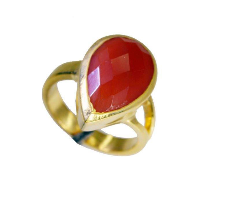 Buy Riyo Red Onyx 18kt Y.g. Plated Bridal Rings Sz 6 Gprron6-66051 online