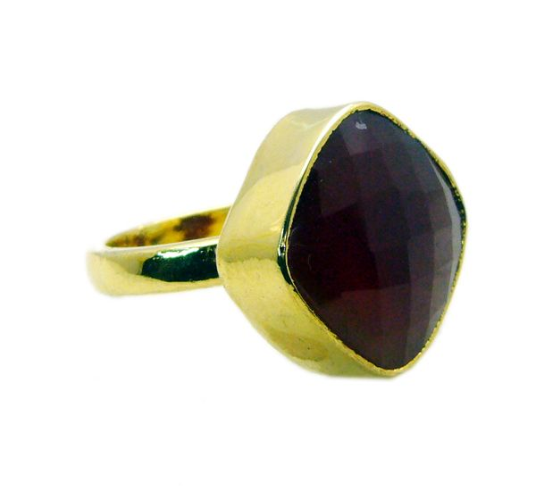 Buy Riyo Red Onyx Gold Plated Online Nice Ring Sz 7 Gprron7-66018 online