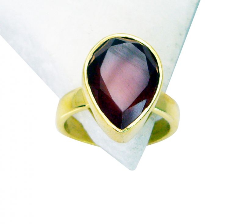 Buy Riyo Red Onyx Fine Gold Plated Engagement Ring Sz 8 Gprron8-66026 online