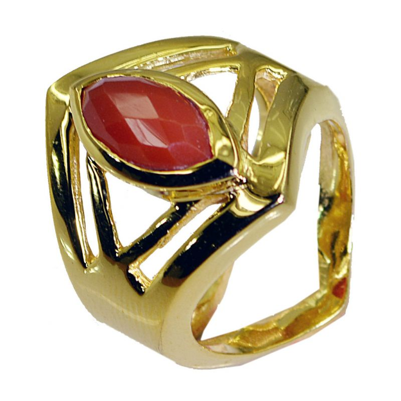 Buy Riyo Red Onyx 18.kt Gold Plated Signet Ring Jewelry Sz 8 Gprron8-66038 online
