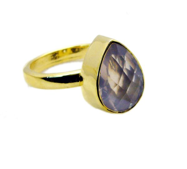 Buy Riyo Rose Quartz Rhodium Plate Class Ring Sz 8 Gprroq8-68024 online