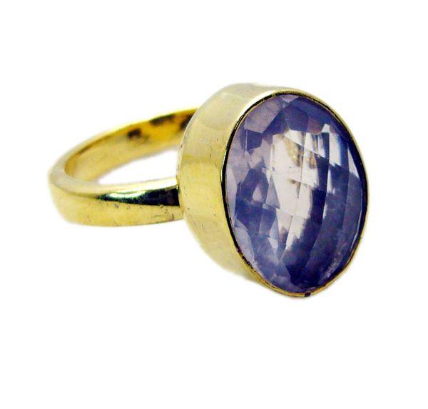 Buy Riyo Rose Quartz 18-kt Gold Platings Posie Ring Sz 9 Gprroq9-68038 online
