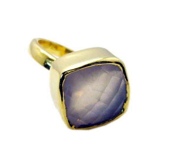 Buy Riyo Rose Quartz 18kt Gold Plating Rosary Ring Jewelry Sz 9 Gprroq9-68040 online