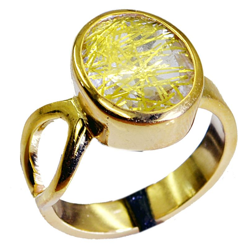 Buy Riyo Rutiled Quartz Cz Gold Plated Costume Bridal Rings Sz 7 Gprrqcz7-106005 online