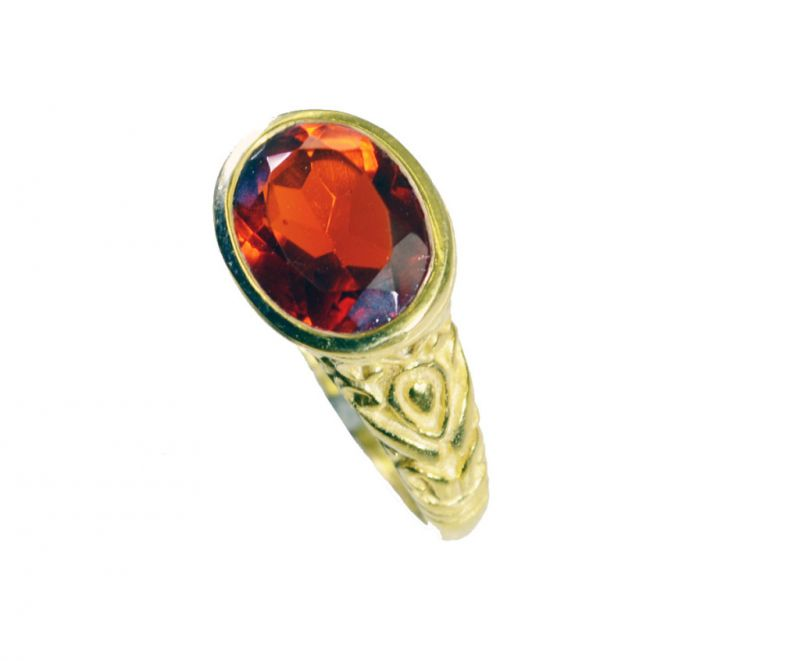 Buy Riyo Ruby Cz 18kt Y.g. Plated Guard Ring Sz 7 Gprrucz7-104045 online
