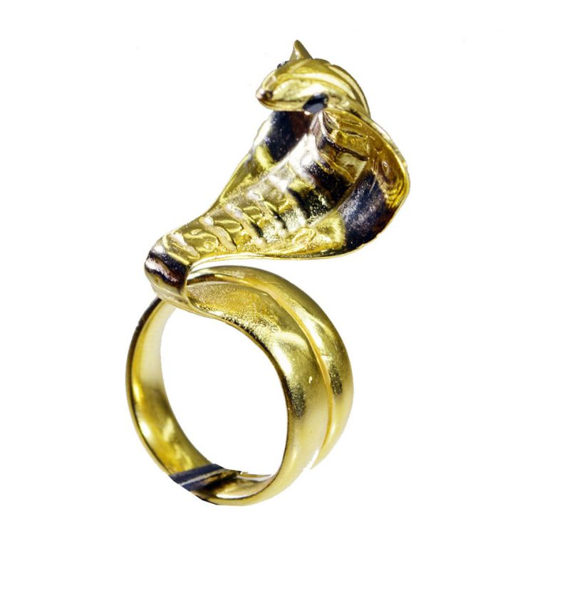 Buy Riyo Gemstone 18kt Gold Plated Snake Ring Gprsna70-290020 online