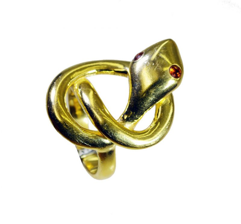 Buy Riyo Gemstone 18kt Gold Plated Snake Ring Gprsna75-290011 online