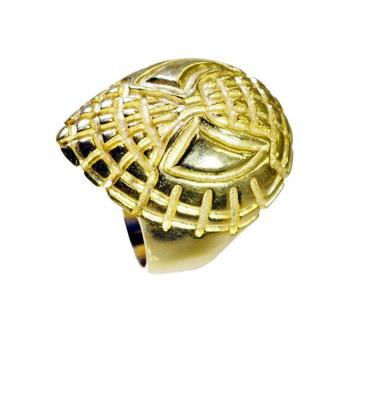 Buy Riyo A Plain 18kt Gold Plated Spider Ring Gprspi60-300001 online
