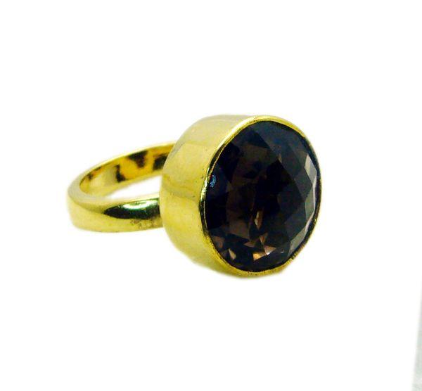 Buy Riyo Smoky Quartz 18-kt Y Gold Fashion Beautiful Ring Sz 5 Gprsqu5-76004 online