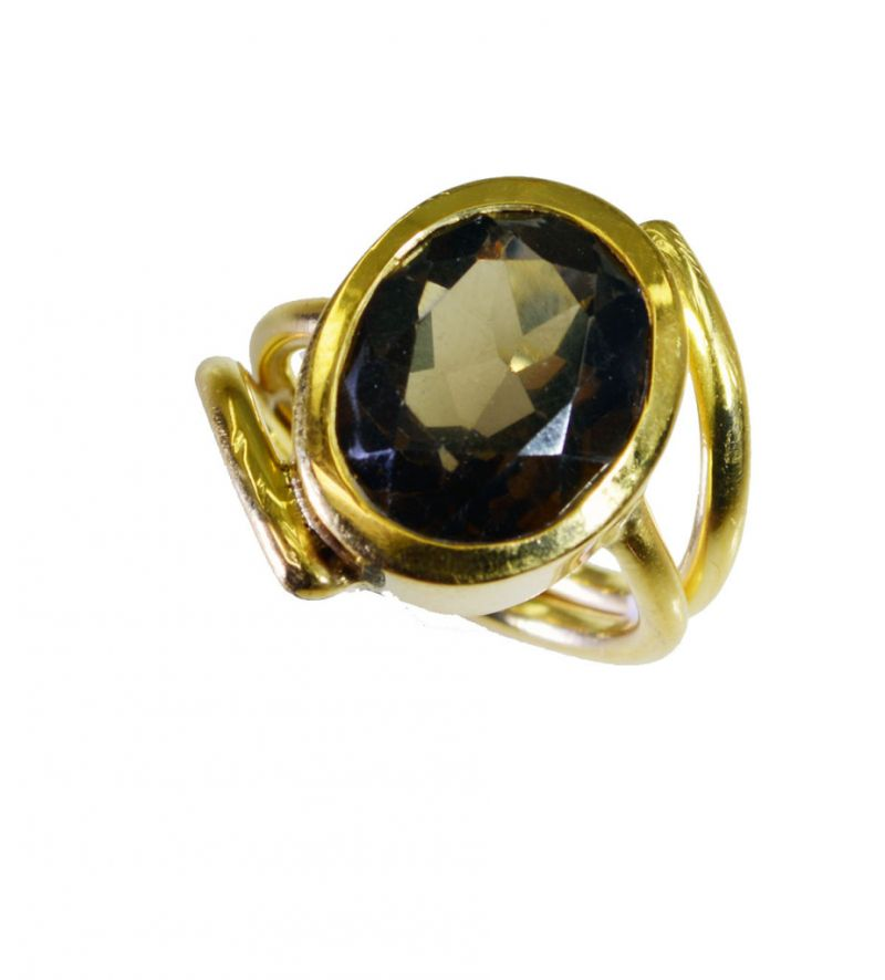 Buy Riyo Smoky Quartz Gold Plated Sets Ring Sz 5.5 Gprsqu5.5-76072 online