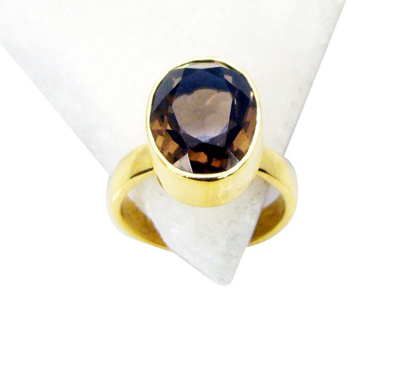 Buy Riyo Smoky Quartz Gold Plated Fashion Mothers Ring Sz 6 Gprsqu6-76031 online