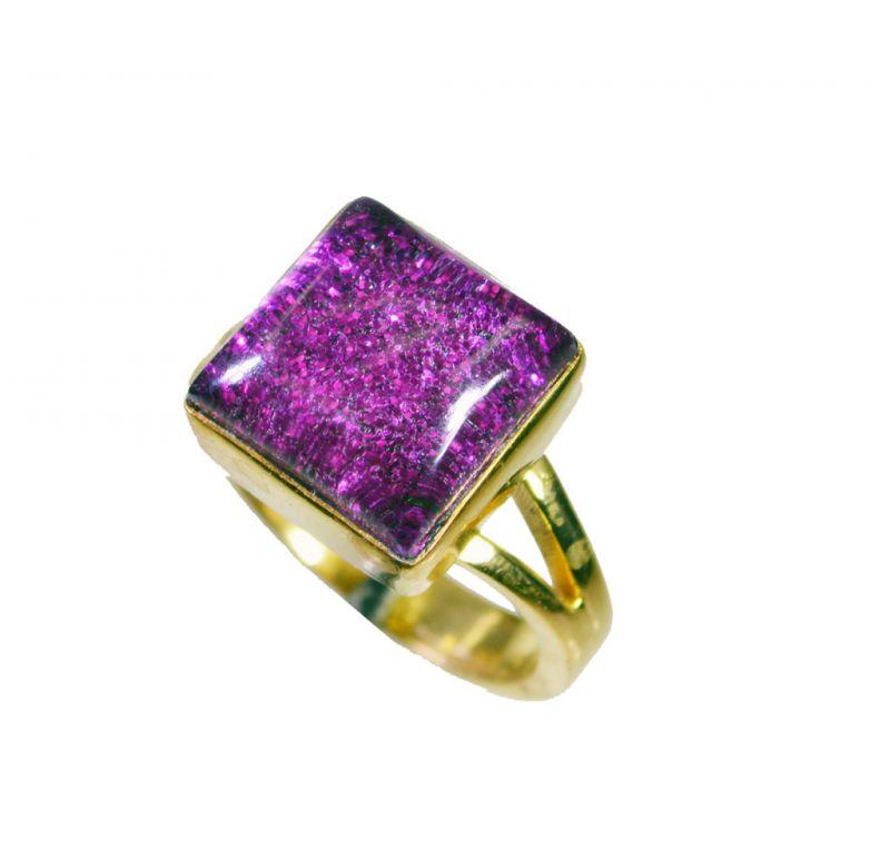 Buy Riyo Sunstone 18-kt Y Gold Plated Aqiq Ring Sz 5 Gprsun5-78017 online