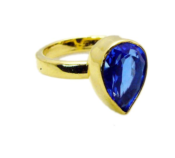 Buy Riyo Tanzanite Cz Gold Plated India Mori Ring Sz 6 Gprtacz6-108002 online