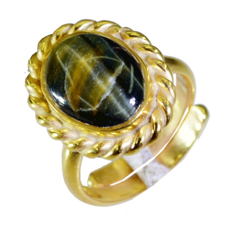 Buy Riyo Tiger Eye 18 Ct Ygold Plated Classic Day Rings Sz 6 Gprtey6-80026 online