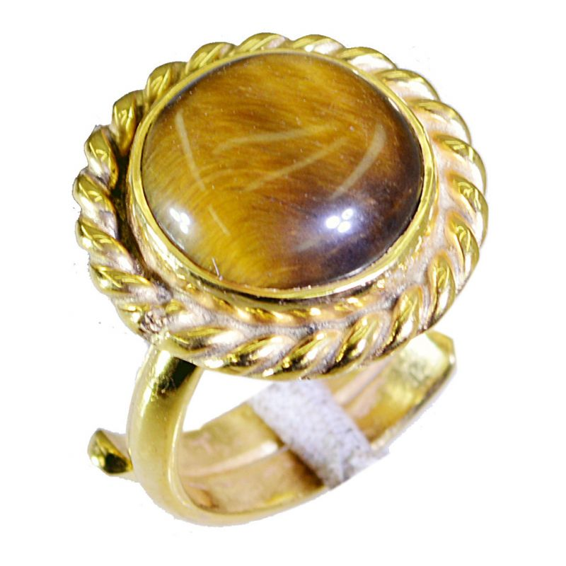 Buy Riyo Tiger Eye 18kt Y.g. Plated Engagement Ring Sz 6 Gprtey6-80028 online