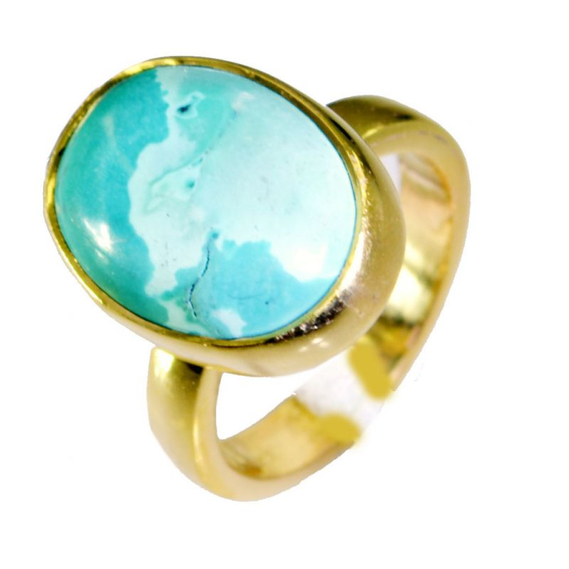 Buy Riyo Turquoise 18kt Gold Platings Claddagh Ring Sz 5 Gprtur5-82006 online