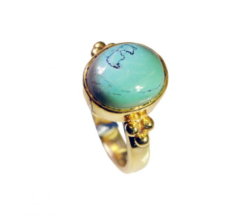 Buy Riyo Turquoise 18 Kt Gold Platings Promise Ring Sz 5 Gprtur5-82093 online