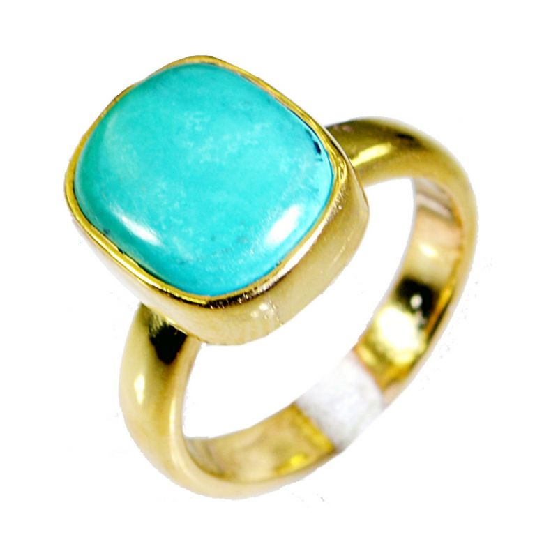 Buy Riyo Turquoise Indian Gold Plate Thumb Ring Sz 6 Gprtur6-82021 online