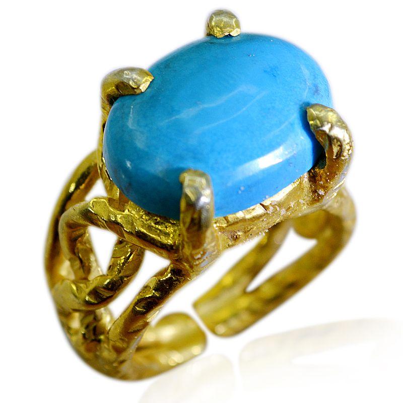 Buy Riyo Turquoise 18 Ct Ygold Plating Bridal Rings Sz 6 Gprtur6-82194 online