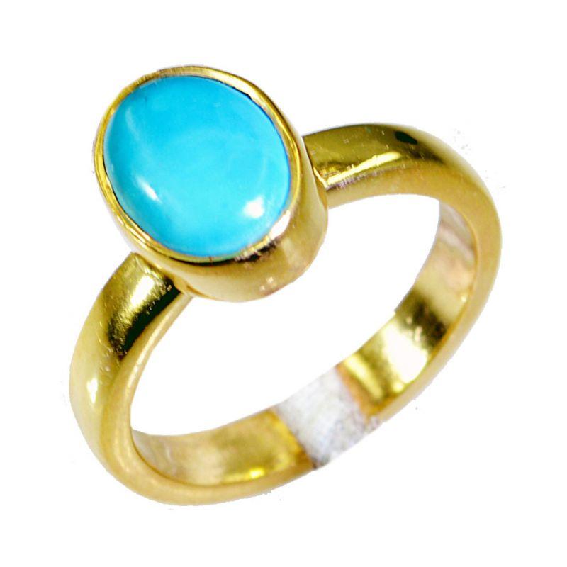 Buy Riyo Turquoise 18 Ct Ygold Plating Regards Ring Jewelry Sz 7 Gprtur7-82049 online