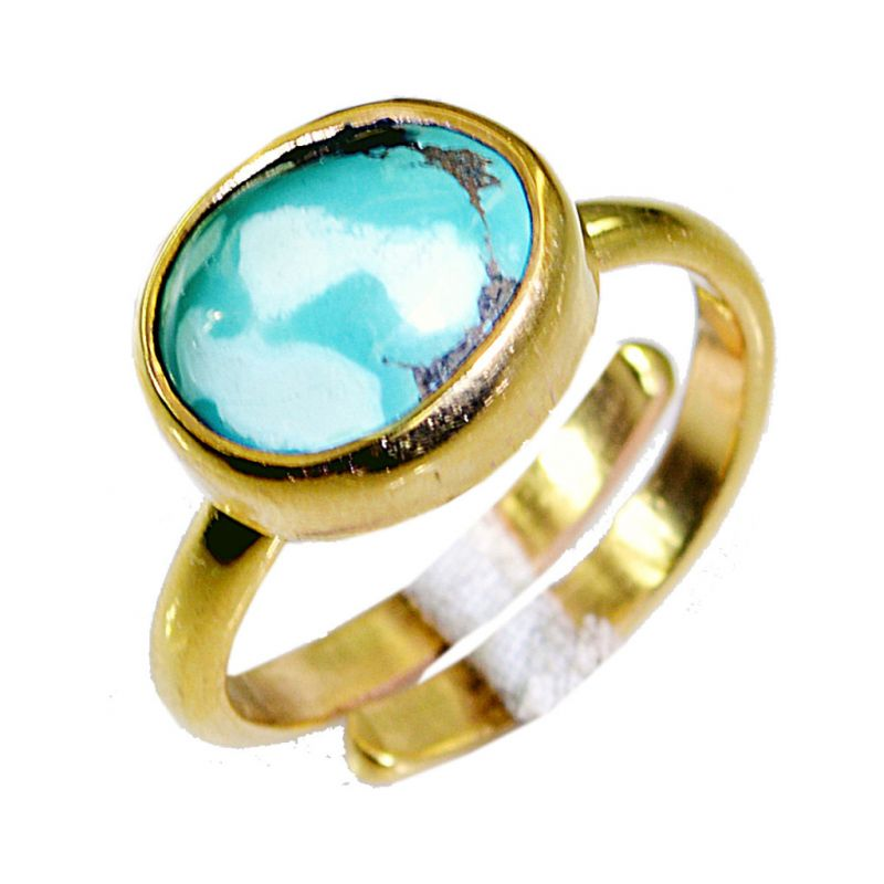 Buy Riyo Turquoise 18k Gold Plating Birthstones Ring Sz 7 Gprtur7-82057 online