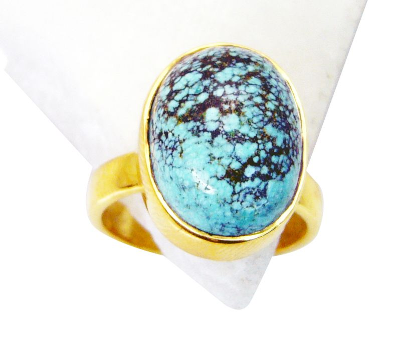 Buy Riyo Turquoise 18 Kt Gold Plated Regards Ring Jewelry Sz 7 Gprtur7-82082 online