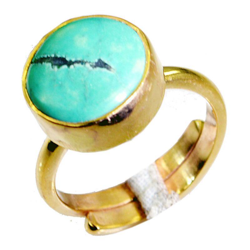 Buy Riyo Turquoise Base Matel Cocktail Ring Sz 7.5 Gprtur7.5-82065 online