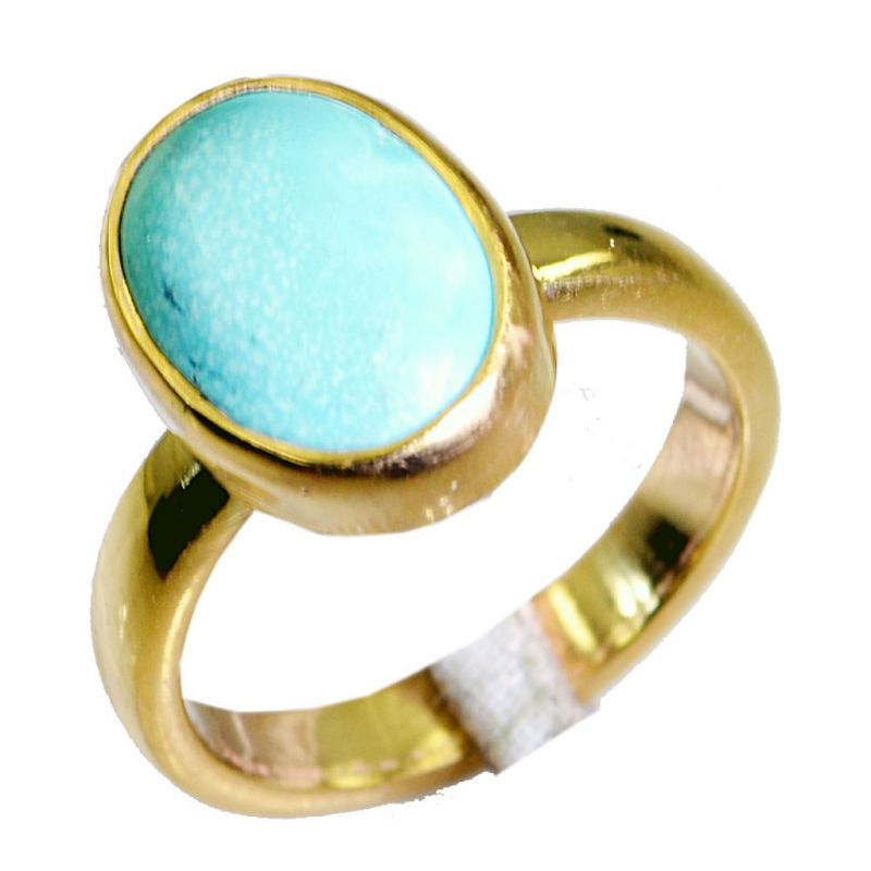 Buy Riyo Turquoise 18.Kt Y Gold Plating Classic Day Rings online