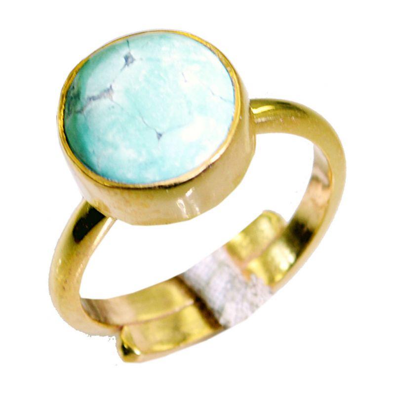 Buy Riyo Turquoise 18.kt Base Matel Gimmal Ring Sz 8 Gprtur8-82078 online