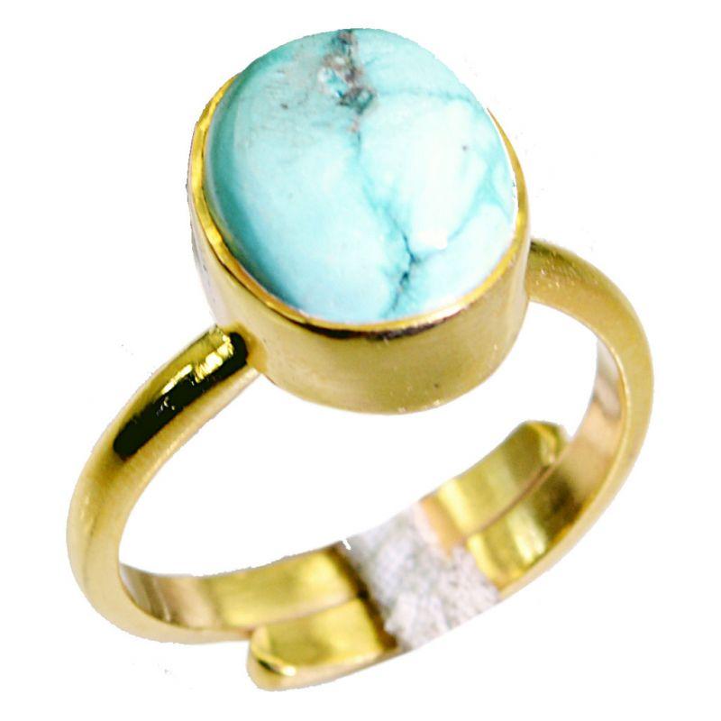 Buy Riyo Turquoise 18kt Y Gold Plating Posie Ring Sz 8 Gprtur8-82081 online