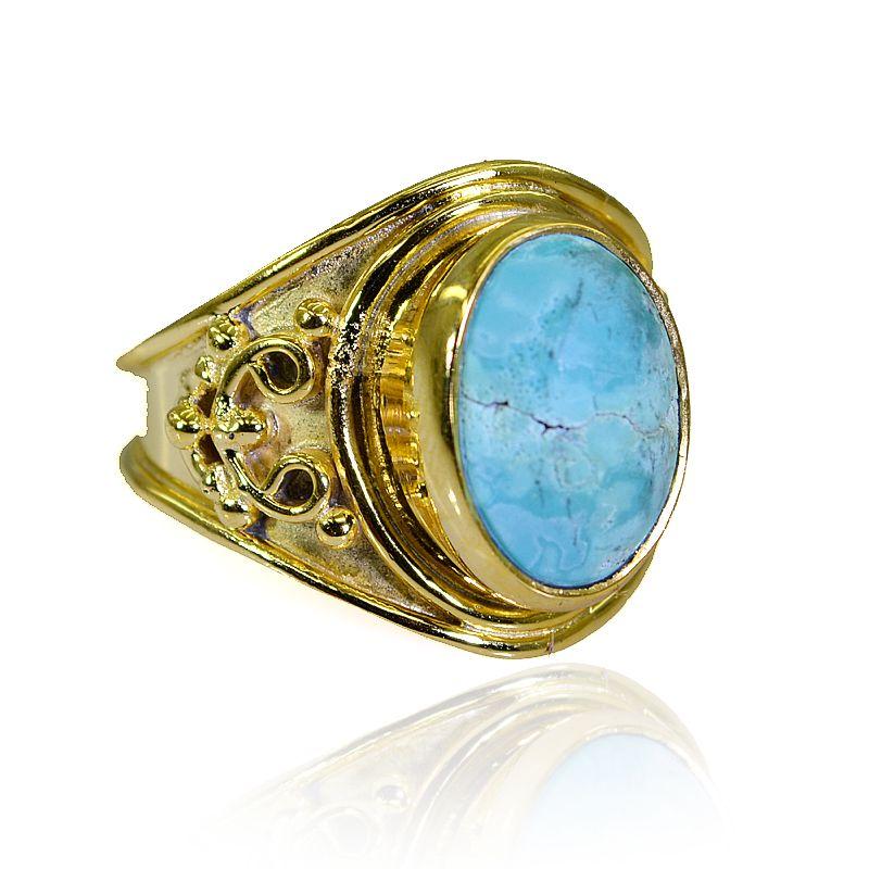 Buy Riyo Turquoise Base Matel Mothers Ring Sz 8 Gprtur8-82211 online