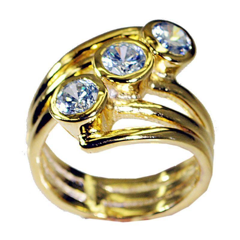Buy Riyo White Cz 18.kt Base Matel Promise Ring Sz 8 Gprwhcz8-110013 online