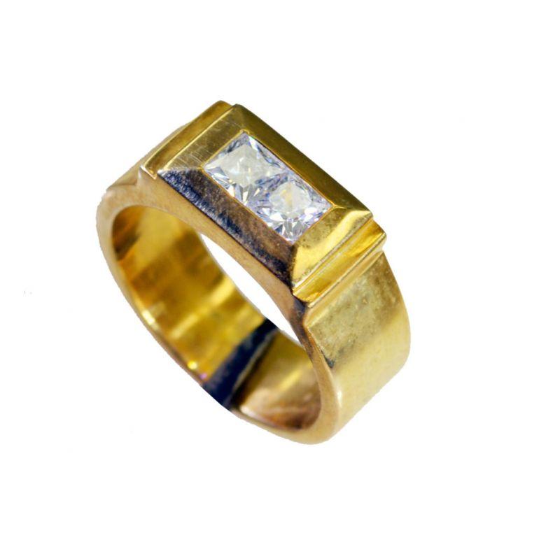 Buy Riyo White Cz 18-kt Gold Plating Mori Ring Sz 9 Gprwhcz9-110030 online
