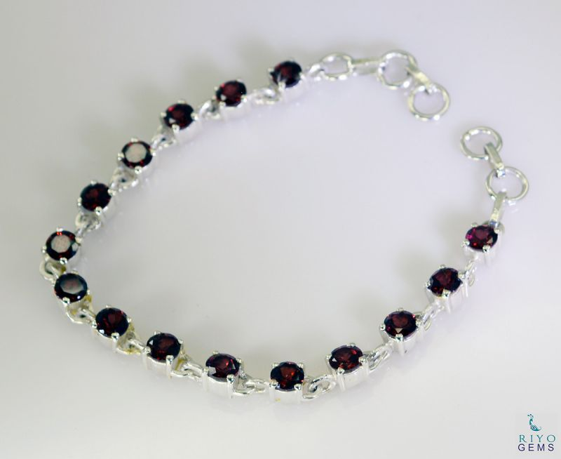 Buy Riyo Garnet Buy Jewelry Online Silver Bracelet For Girls ...
