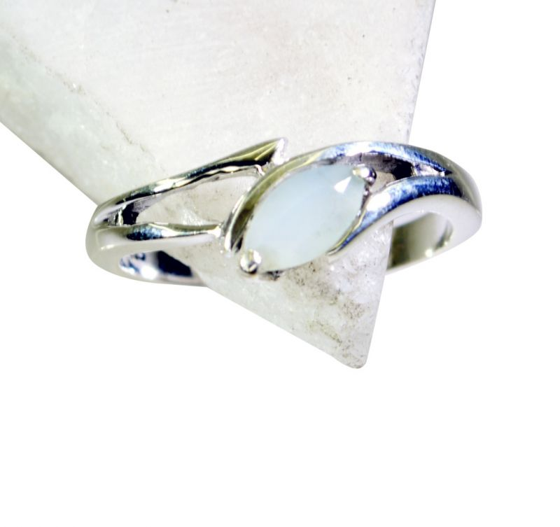 Buy Riyo Aqua Chalcedony Silver Jewelry Supplies Classic Day Rings online