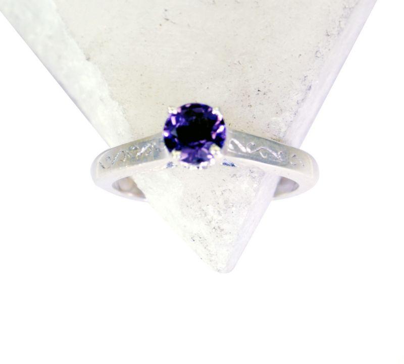 Buy Riyo Amethyst Unique Handmade Silver Silver Stacking Ring Sz 5 Srame5-2066 online