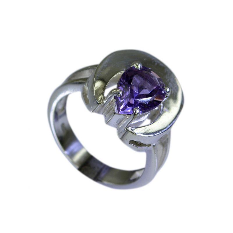 Buy Riyo Amethyst Silver Jewelry Wholesale India Couple Ring Silver Sz 5.5 Srame5.5-2007 online