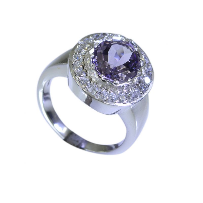 Buy Riyo Amethyst Silver Personalized Jewelry Personalized Silver Ring Sz 6 Srame6-2023 online