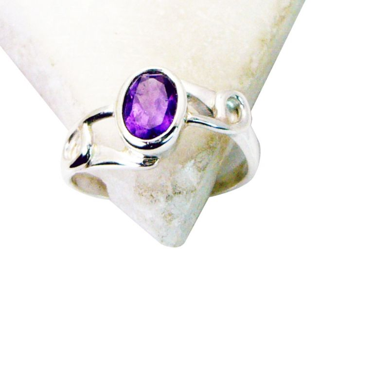 Buy Riyo Amethyst Western Silver Jewelry Thick Silver Ring Sz 6 Srame6-2076 online