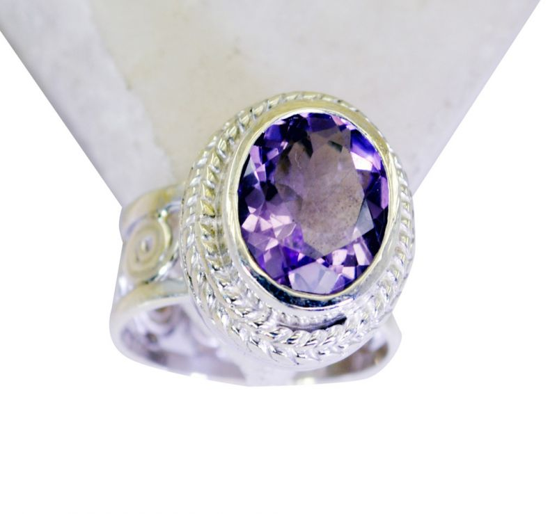 Buy Riyo Amethyst Wholesale Gemstone Vintage Silver Ring Sz 6 Srame6-2080 online