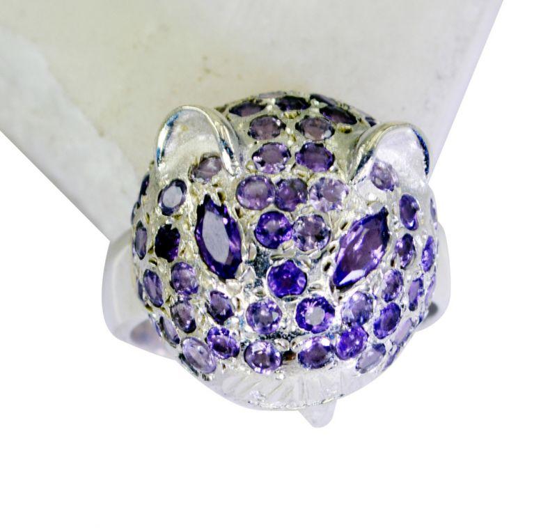Buy Riyo Amethyst Wholesale Silver Fashion Wide Silver Ring Sz 6 Srame6-2084 online