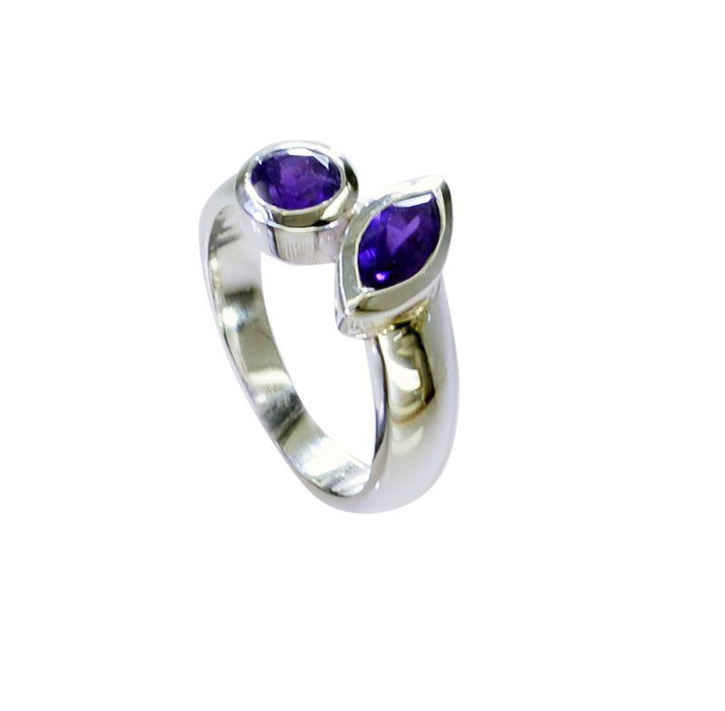 Buy Riyo Amethyst Contemporary Handmade Contemporary Silver Ring Sz 6 Srame6-2166 online