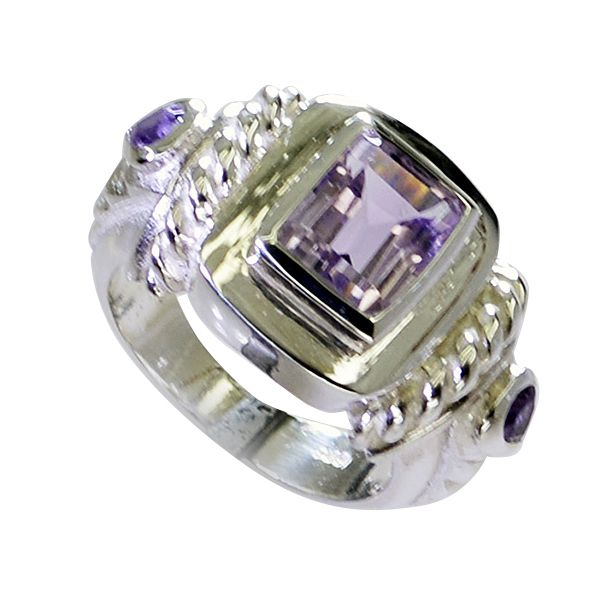 Buy Riyo Amethyst Cool Silver Jewelry Engagement Ring Silver Sz 6 Srame6-2171 online
