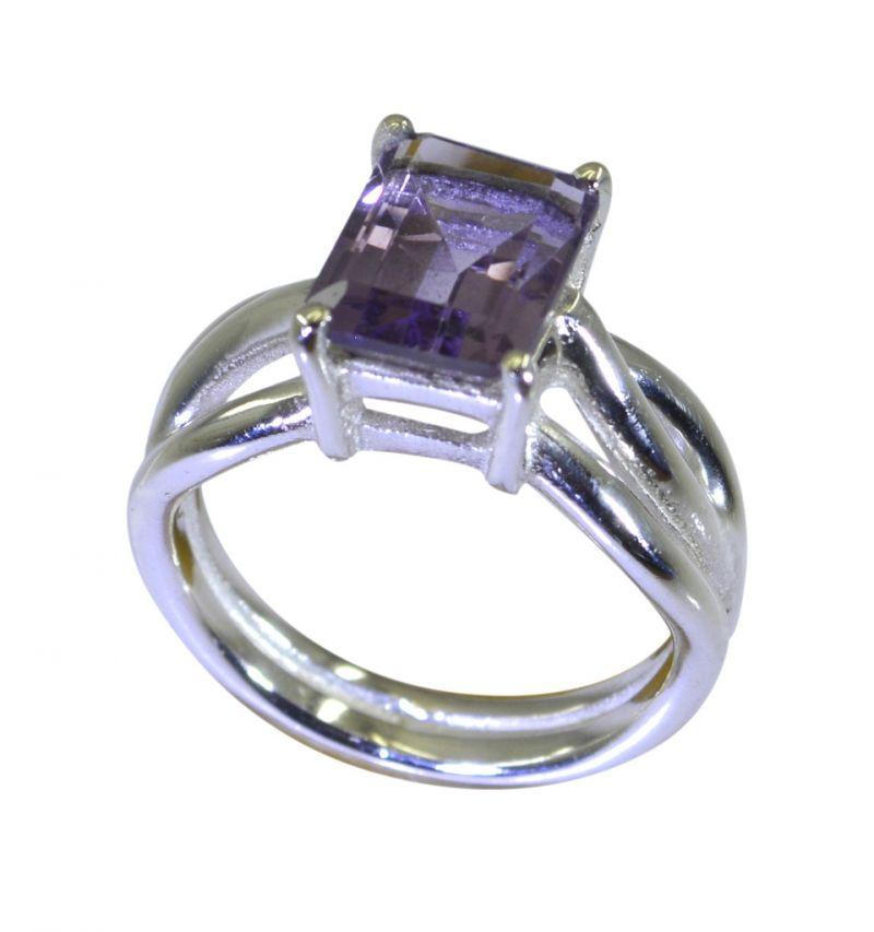 Buy Riyo Purple Amethyst 925 Solid Sterling Silver Encased Ring Srame60-2178 online