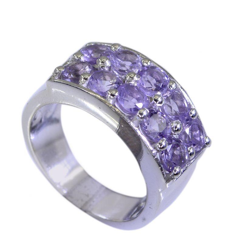 Buy Riyo Amethyst Solid Silver Jewellery Silver Ring Design Sz 7 Srame7-2048 online