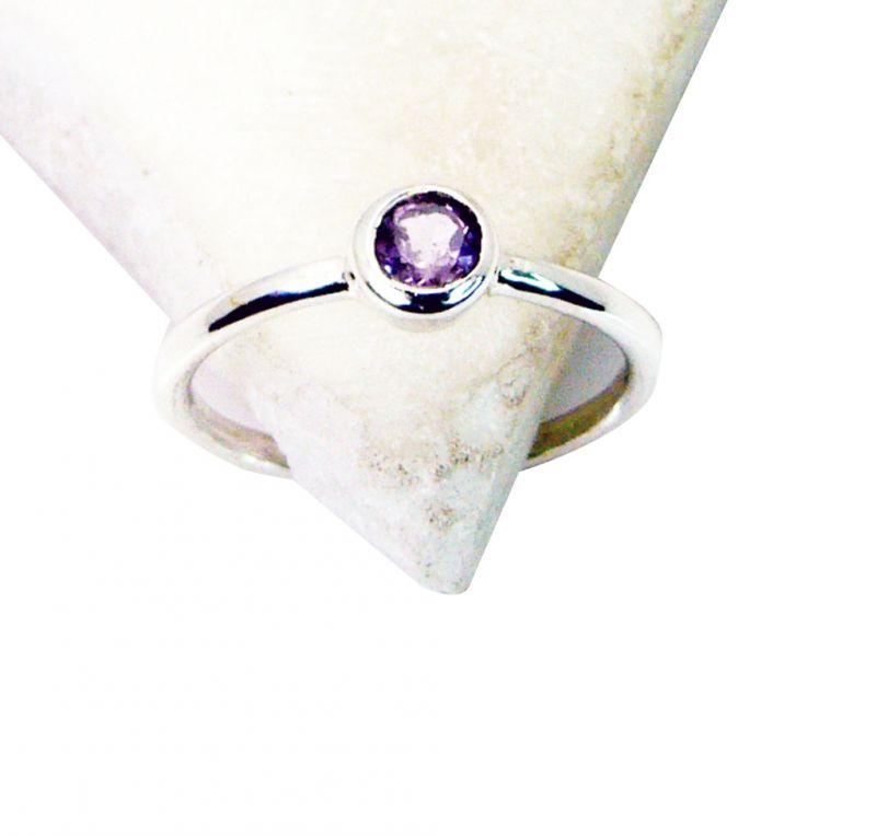 Buy Riyo Amethyst Wholesale Silver India Classic Day Rings online