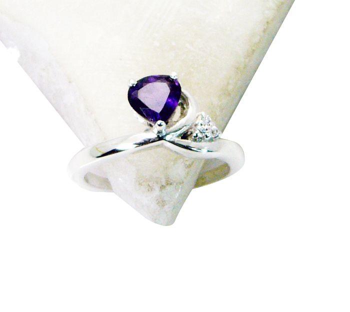 Buy Riyo Amethyst Womens Silver Jewellery Jaipur Jewellery Sz 7 Srame7-2094 online