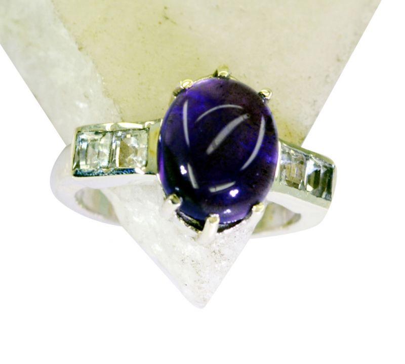 Buy Riyo Amethyst 92.5 Solid Silver Signet Ring Jewelry Jewelry Sz 7 Srame7-2105 online