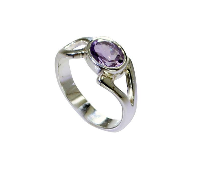 Buy Riyo Amethyst Custom Silver Jewellery Handmade Silver Ring Sz 7 Srame7-2173 online